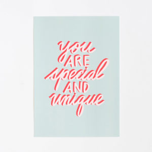 affiche-you-are-special-and-unique