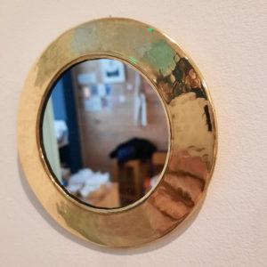 miroir-rond-martelé